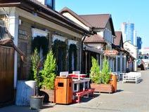 Zybickaya ulica G?rny miasteczko To jest popularny ulica z restauracjami i obraz stock
