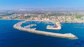 Zygi aérien, Larnaca Photo libre de droits