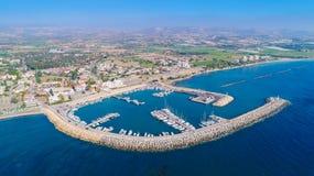 Zygi aérien, Larnaca Photos libres de droits