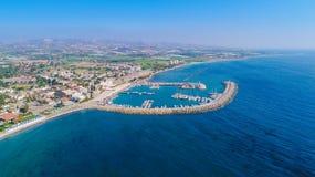 Zygi aérien, Larnaca Photographie stock libre de droits