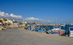 Zygi, Chipre, vista del puerto deportivo Fotografía de archivo