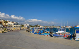 Zygi, Chypre, vue de la marina Photographie stock