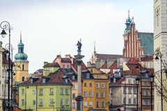 Zygmunt Column monument in the city center of Warsaw, Poland Stock Photography