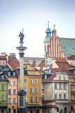 Zygmunt Column monument in the city center of Warsaw, Poland Royalty Free Stock Photos
