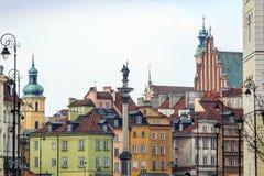 Zygmunt Szpaltowy zabytek w centrum miasta Warszawa, Polska Fotografia Stock
