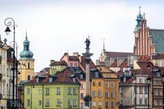 Zygmunt Szpaltowy zabytek w centrum miasta Warszawa, Polska Zdjęcia Royalty Free