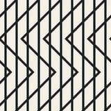 Zygzag wykłada geometrycznego bezszwowego wzór Zdjęcie Stock