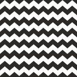 Zygzakowatego wektorowego szewronu płytki czarny i biały wzór ilustracja wektor