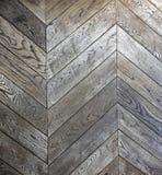 Zygzakowaty drewniany podłoga wzór Zdjęcie Royalty Free