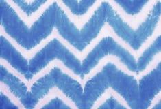 Zygzakowaty krawat farbujący deseniowy abstrakcjonistyczny tło Obraz Stock