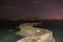 Zygzakowaty molo, St Monans, Szkocja fotografia royalty free