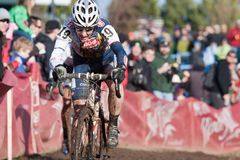Zyklo-Kreuz nationale Meisterschaft - Auslese-Frauen Stockbild