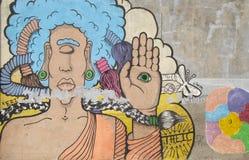 Zyklop-Graffiti Lizenzfreies Stockfoto