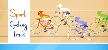 Zyklus, der Athleten Competition Sport Racetrack läuft Lizenzfreie Stockfotos