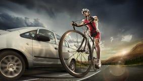 Zyklussupport - team Stockbild