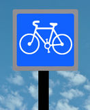 Zykluswegzeichen Stockfotos