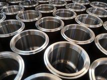 Zylinder CNC drechseln Drehenteile, innerhalb des Fadens stockfoto