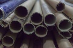 Zylinder für Gewebe an der Fabrik stockfoto