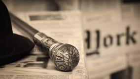Zylinder mit einem Stock Lizenzfreies Stockfoto