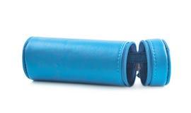 Zylinderförmiger Bleistiftkasten lokalisiert Lizenzfreies Stockfoto