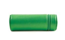 Zylinderförmiger Bleistiftkasten lokalisiert Stockfoto