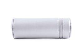 Zylinderförmiger Bleistiftkasten lokalisiert Stockbild