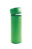 Zylinderförmiger Bleistiftkasten lokalisiert Lizenzfreie Stockbilder