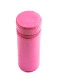 Zylinderförmiger Bleistiftkasten lokalisiert Lizenzfreie Stockfotografie