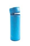 Zylinderförmiger Bleistiftkasten lokalisiert Stockfotos