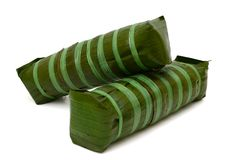 Zylinderförmiger Klebreiskuchen, vietnamesisches Lebensmittel des neuen Jahres Lizenzfreie Stockfotos