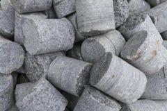 Zylinderförmiger Stein Stockfotos