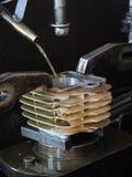 Zylindermotorrad Stockfoto
