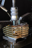 Zylindermotorrad Lizenzfreies Stockfoto