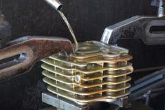 Zylindermotorrad Stockbild