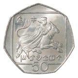 Zypern-Centmünze Lizenzfreies Stockbild