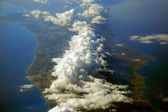 Zypern deckte mit Wolken ab stockbilder