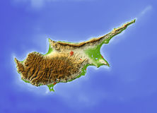 Zypern, Entlastungskarte Stockfoto