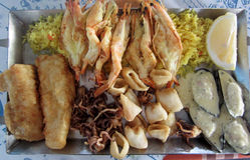Zypern-Fische meze Lizenzfreies Stockbild