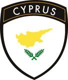 Zypern-Markierungsfahne Stockfotos