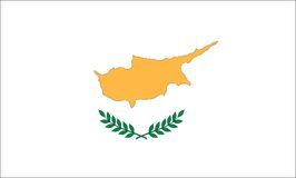 Zypern-Markierungsfahne Lizenzfreie Stockfotografie