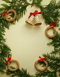 Zypresse-Weihnachtsfeld Lizenzfreie Stockfotografie