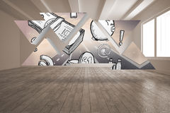 Zysk grafika na abstrakta ekranie Obraz Stock