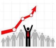 Zysk i sprzedaże zespalamy się sprzedaże wzrostowe Drużyna lub społeczność Grupa ludzi, swój szef i lider lub ilustracja wektor