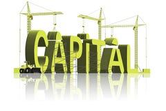 zyskiem jest budowy kapitałowym pomyślności robi bogactwu Obrazy Royalty Free