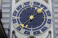 Zytglogge东部clockface  免版税库存照片