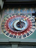 Zytglogge, Bern ( Schweiz ). The dial of the Zytglogge's astronomical clock is built in the form of an astrolabe. It is backed by a stereographically projected Stock Photos