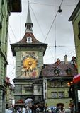 Zytglogge clock tower in downtown Bern, Switzerland royalty free stock photo