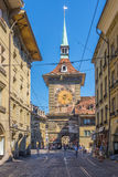 Zytglogge - Tower clock from West side in Bern Stock Photography