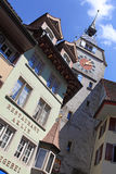 Zytturm clocktower in Zug Stock Afbeelding