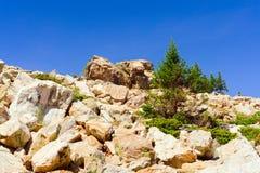 Zyuratkul国立公园 岩石峰顶的看法 库存照片